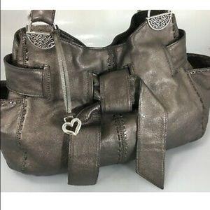 Brighton Cleo Metallic Leather Bow Bag